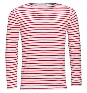 SOL'S Marine Long Sleeve Striped T-Shirt