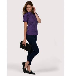 UC712 Ladies Poplin Half Sleeve Shirt