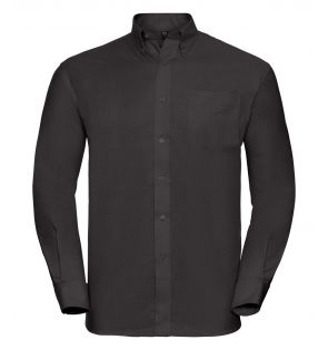 Russell Collection Long Sleeve Easy Care Oxford Shirt