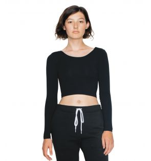 American Apparel Ladies Jersey Long Sleeve Crop Top
