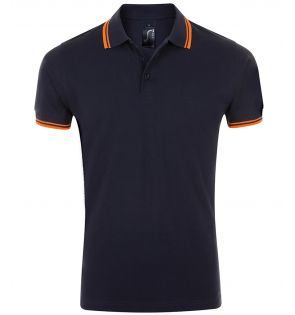 SOL'S Pasadena Tipped Cotton Piqué Polo Shirt