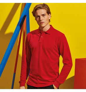 AQ030 Men's classic fit long sleeved polo