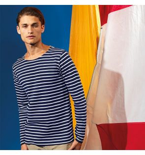 AQ070 Men's Marinière coastal long sleeve tee