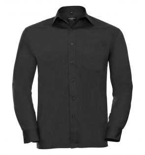 Russell Collection Long Sleeve Easy Care Poplin Shirt