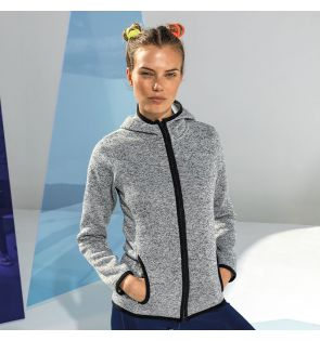 TR081 Women's TriDri® melange knit fleece jacket