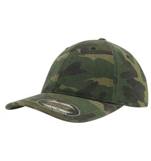 YP026 Flexfit garment washed camo (6977CA)