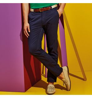 AQ052 Men's slim fit cotton chinos