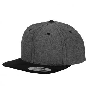 YP009 Chambray-suede snapback (6089CH)