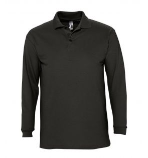 SOL'S Winter II Long Sleeve Cotton Piqué Polo Shirt