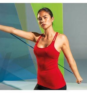 TR029 Women's TriDri® 'laser cut' spaghetti strap vest