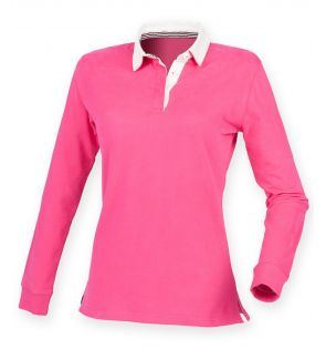 Front Row Ladies Premium Superfit Rugby Shirt
