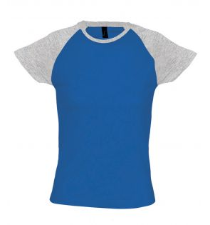 SOL'S Ladies Milky Contrast Baseball T-Shirt