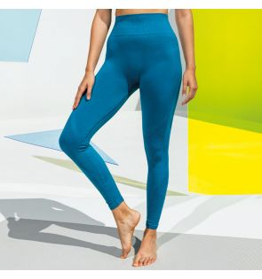 TR215 Women's TriDri® seamless '3D fit' multi-sport sculpt solid colour leggings