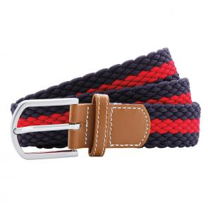 AQ901 Two-colour stripe braid stretch belt