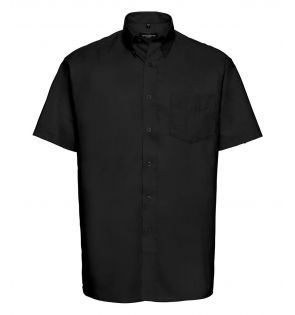 Russell Collection Short Sleeve Easy Care Oxford Shirt