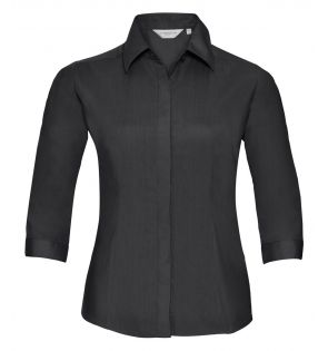Russell Collection Ladies 3/4 Sleeve Fitted Poplin Shirt