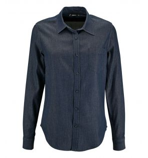 SOL'S Ladies Barry Long Sleeve Denim Shirt