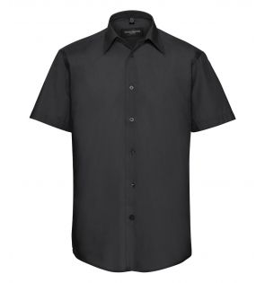 Russell Collection Short Sleeve Tailored Poplin Shirt