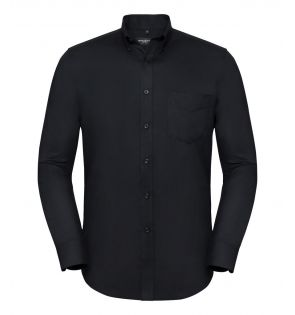 Russell Collection Tailored Long Sleeve Oxford Shirt