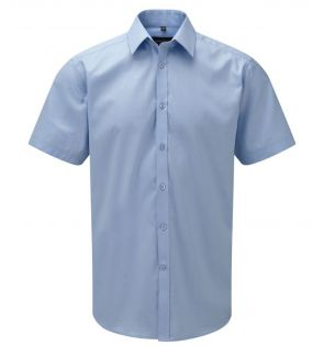 Russell Collection Short Sleeve Herringbone Shirt