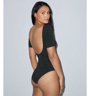 American Apparel Ladies Double U Neck Bodysuit