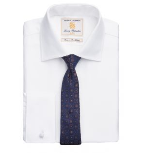 Prato Slim Fit Shirt Cotton Herringbone