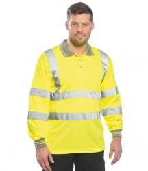 Portwest Hi-Vis Long Sleeve Polo Shirt