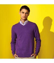 AQ042 Men's cotton blend v-neck sweater