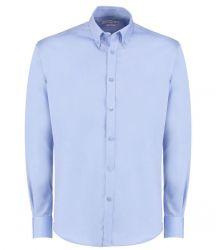 Kustom Kit Long Sleeve Slim Fit Oxford Twill Non-Iron Shirt