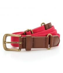AQ902 Faux leather and canvas belt