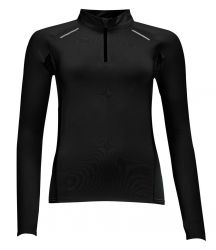 SOL'S Ladies Berlin Long Sleeve Zip Neck Running Top