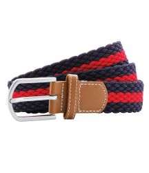 AQ901 Two-colour stripe braid stretch belt