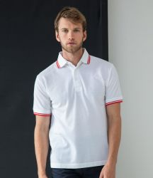 Henbury Tipped Poly/Cotton Piqué Polo Shirt