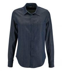 SOL'S Ladies Barry Long Sleeve Denim Shirt