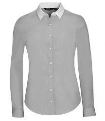 SOL'S Ladies Belmont Long Sleeve Contrast Poplin Shirt