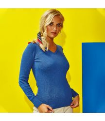 AQ043 Women's cotton blend v-neck sweater